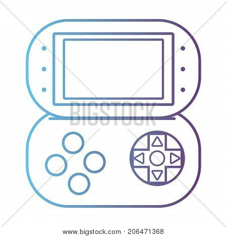 line videogame console electronic technology vector illustration