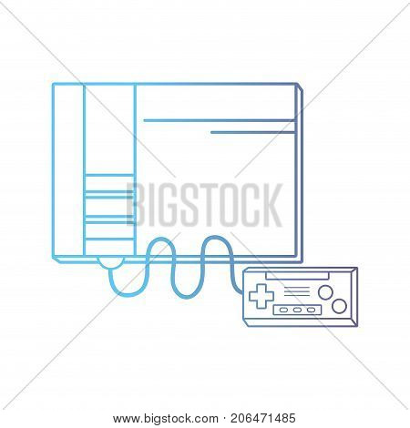 line viceo game console electronic technology vector illustration