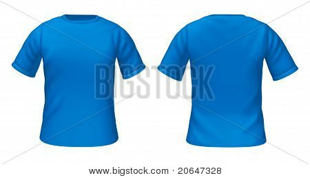 Blank T-shirts Template With Blue Color