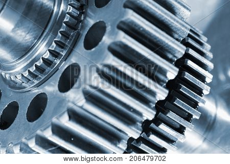 titanium and steel gears, engineering parts