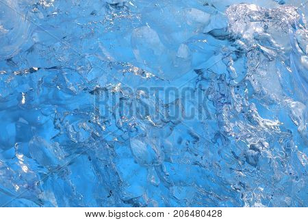 Ice texture background of iceberg from Glacial lake Jokulsarlon in Iceland