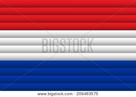 National Flag of Netherlands. For Independence Day. Vector Illustration.