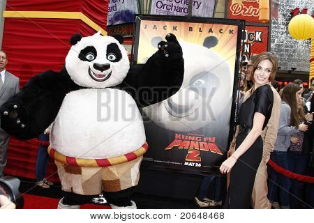 LOS ANGELES - MAY 22:  Angelina Jolie at the premiere of Kung Fu Panda 2 at the Grauman's Chinese Theater in Los Angeles, California on May 22, 2011.