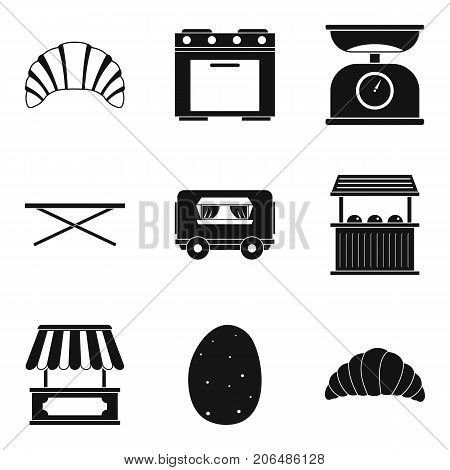 Bun to takeaway icons set. Simple set of 9 bun to takeaway vector icons for web isolated on white background