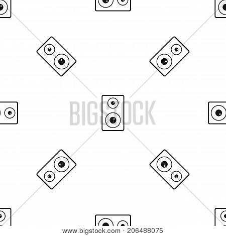 Subwoofer pattern repeat seamless in black color for any design. Vector geometric illustration