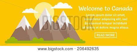 Welcome to Canada banner horizontal concept. Flat illustration of welcome to Canada banner horizontal vector concept for web design