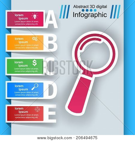 Loupe, search ibusiness nfographic Vector eps 10