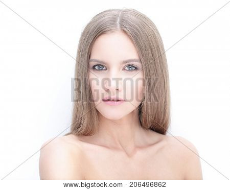 closeup. portrait of glamorous girl