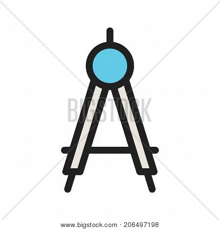 Compass, drawing, precision icon vector image. Can also be used for Hand Tools. Suitable for use on web apps, mobile apps and print media