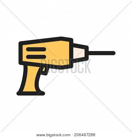 Drilling, equipment, construction icon vector image. Can also be used for Hand Tools. Suitable for mobile apps, web apps and print media.