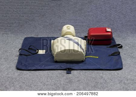 Automated external defibrillator ; AED for emergency treatment.