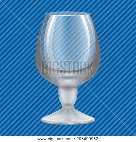 Brandy glass concept background. Realistic illustration of brandy glass vector concept background for web design