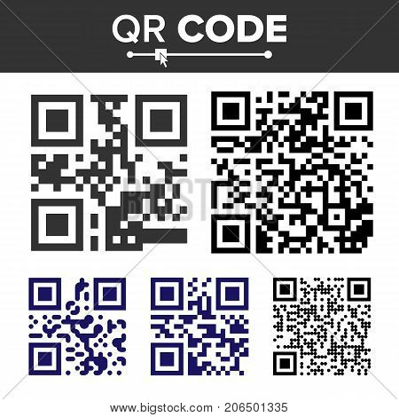 QR Code Vector. Hidden Text Or Url. Scanning Smartphone Technology. Isolated Classic QR Illustration