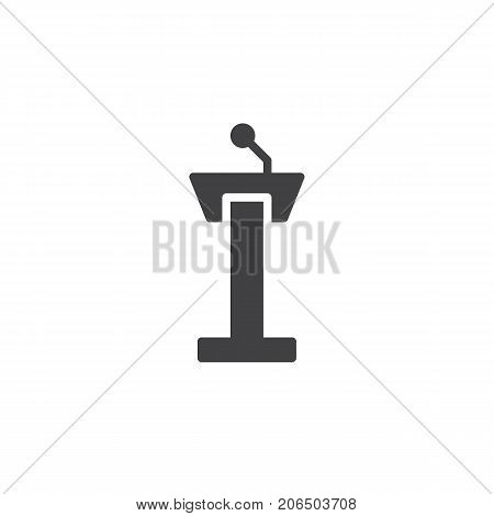 Tribune icon vector, filled flat sign, solid pictogram isolated on white. Symbol, logo illustration.