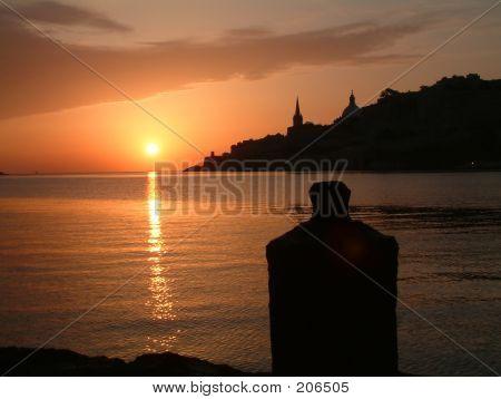 Sunrise Among The Bastions Of Valletta Malta