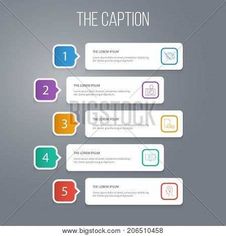 Outline Design Set Of Invention, Camera, Sheet And Other Vector Objects