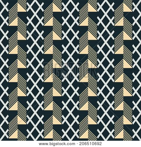 Seamless Print Of Patterned Wide Vertical Stripes