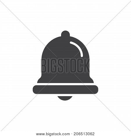 Notification jingle bell icon vector, filled flat sign, solid pictogram isolated on white. Symbol, logo illustration.