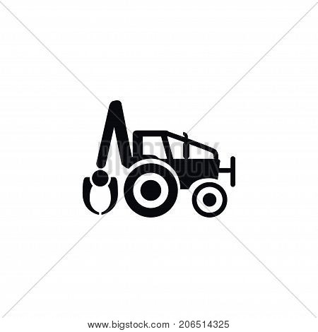 Digger Vector Element Can Be Used For Excavator, Digger, Bulldozer Design Concept.  Isolated Excavator Icon.