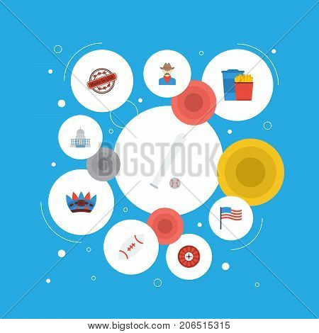 Flat Icons Roulette, Sport, Football And Other Vector Elements