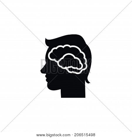 Brainstorming Vector Element Can Be Used For Intellect, Brainstorming, Human Design Concept.  Isolated Intellect Icon.