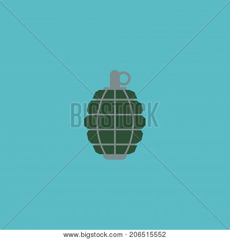 Flat Icon Grenade Element. Vector Illustration Of Flat Icon Dynamite Isolated On Clean Background