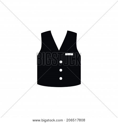 Waistcoat Vector Element Can Be Used For Waistcoat, Vest, Cloth Design Concept.  Isolated Vest Icon.