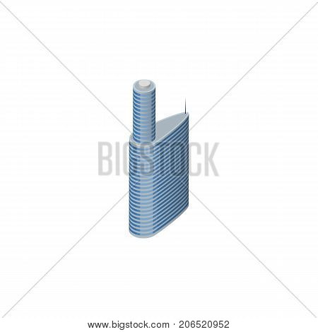Building Vector Element Can Be Used For Building, Skyscraper, Exterior Design Concept.  Isolated Exterior Isometric.