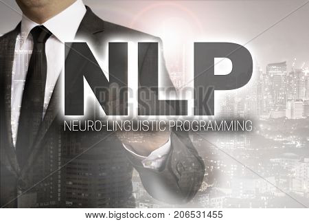 NLP is shown by businessman concept picture
