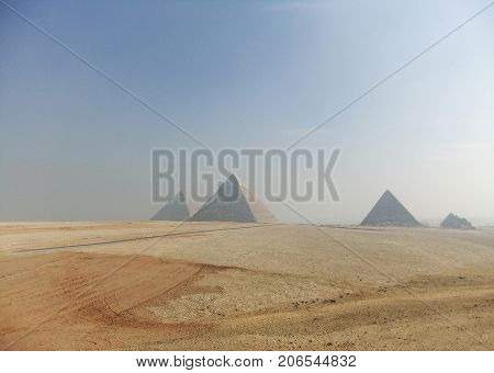 The great pyramids on the giza plateau