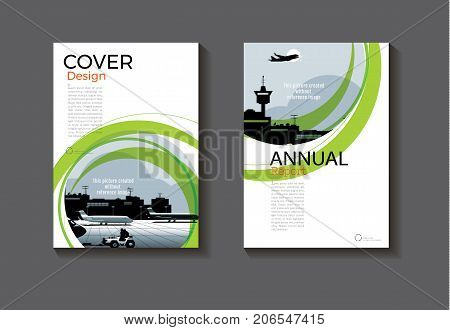 green abstract Circle abstract cover design modern book cover abstract Brochure cover templateannual report magazine and flyer layout Vector a4