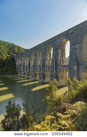 Guzelce Aqueduct built by Master Ottoman Architect Sinan Istanbul Turkey