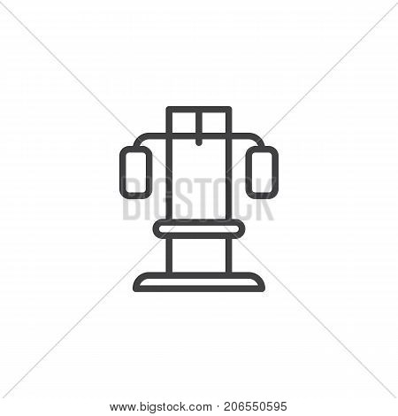Training apparatus line icon, outline vector sign, linear style pictogram isolated on white. Symbol, logo illustration. Editable stroke