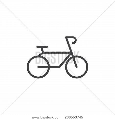 Bicycle line icon, outline vector sign, linear style pictogram isolated on white. Bike symbol, logo illustration. Editable stroke