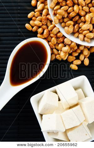 Soybeans With Soy Sauce And Tofu