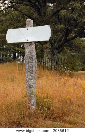 Blank Rural Sign