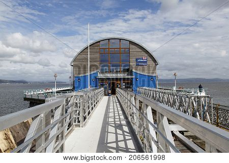 Swansea, UK: September 10, 2016: The New Lifeboat Station at Swansea Pier.