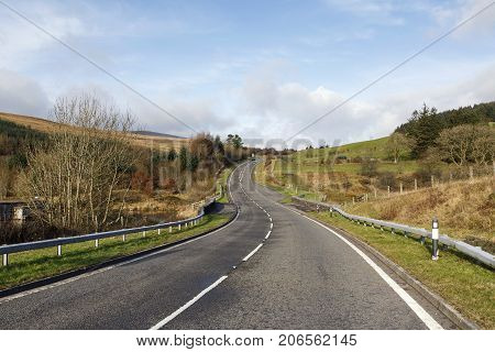 A470 main road heading towards the Brecon Beacons