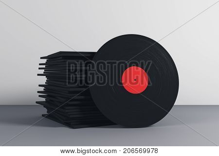 Stack Of Black Vinyl Covers