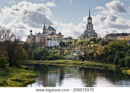 The Boris and Gleb monastery in Torzhok Tver region Russia