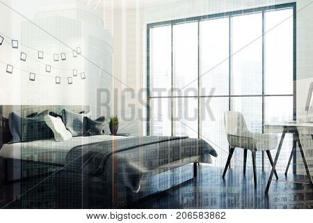 White Bedroom, A Photo Gallery, Gray Corner Toned