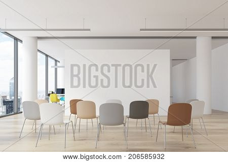 Office Classroom, Colored Chairs