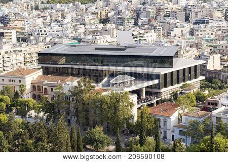 the acropolis museum of athens at greece