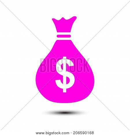 Dollar USD currency symbol. Flat design style.
