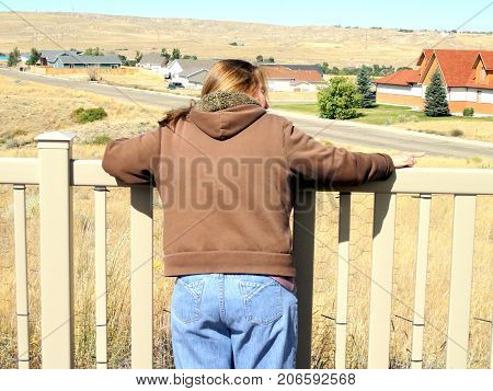 New home buyer looking at new property to purchase.