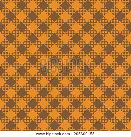 Halloween Tartan Seamless Pattern Background. Autumn color panel Plaid Tartan Flannel Shirt Patterns. Trendy Tiles Vector Illustration for Wallpapers.