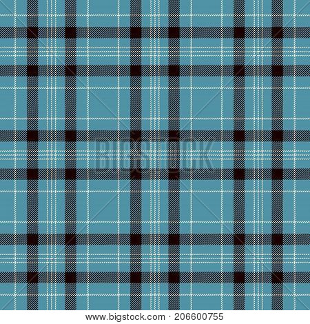 Tartan Seamless Pattern Background. Black Blue and White Plaid Tartan Flannel Shirt Patterns. Trendy Tiles Vector Illustration for Wallpapers.