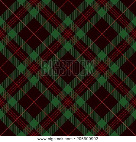 Tartan Seamless Pattern Background. Black Green and Red Plaid Tartan Flannel Shirt Patterns. Trendy Tiles Vector Illustration for Wallpapers.