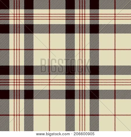 Tartan Seamless Pattern Background. Black Red and Beige Plaid Tartan Flannel Shirt Patterns. Trendy Tiles Vector Illustration for Wallpapers.
