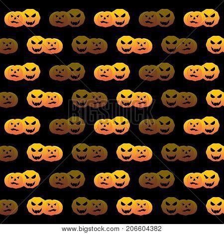 Halloween pumpkin create pattern background stock vector